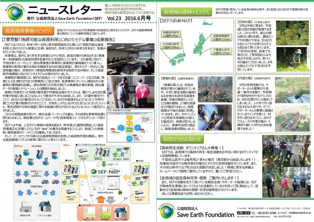 ニュースレターVol.23(2016.6月号)